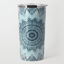BOHOCHIC MANDALA IN BLUE Travel Mug