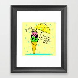 Family forever Framed Art Print
