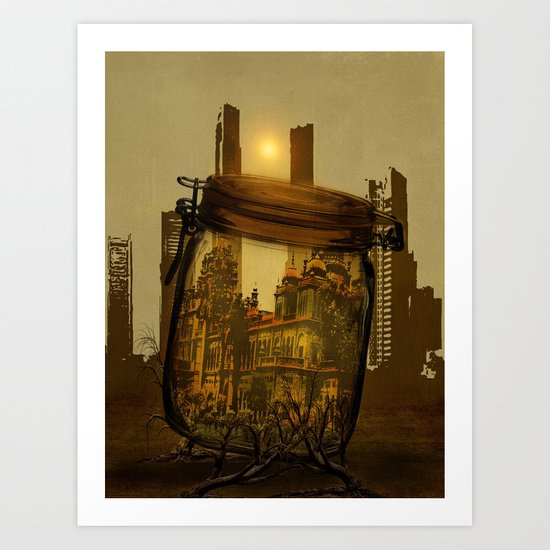 The last vintage city. Art Print