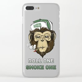 Weed Lovers - Roll One Smoke One Clear iPhone Case