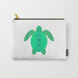 Sea Turtle - Blue and Green Carry-All Pouch