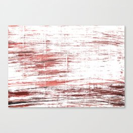 Red white watercolor Canvas Print