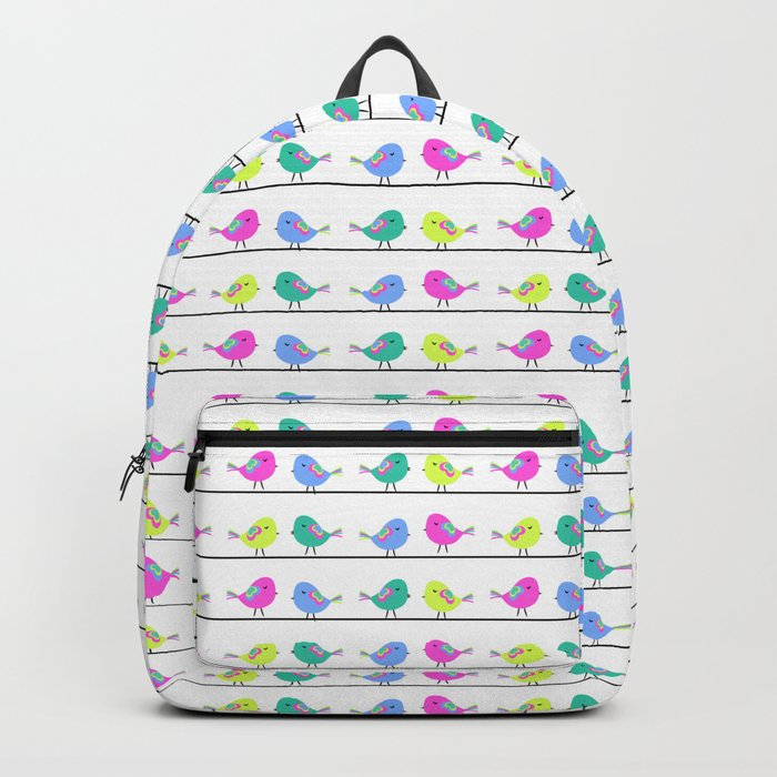 Colorful birds Backpack