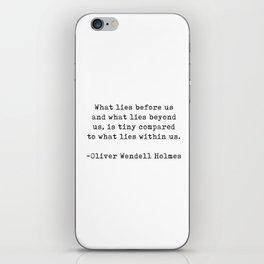 Oliver Wendell Holmes iPhone Skin