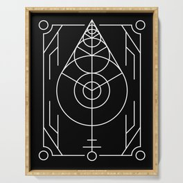 The Leaf Sacred Geometry Serving Tray