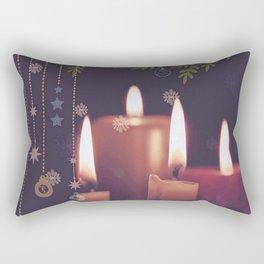 Christmas Candles Rectangular Pillow