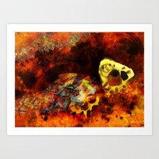 Chasing bugs. Art Print