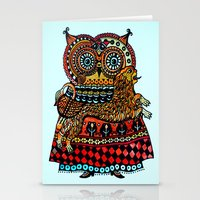 celtic Stationery Cards featuring Celtic owl ! by oxana zaika