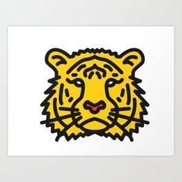 Toby The Tiger Art Print