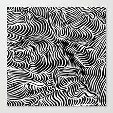 black flow Canvas Print