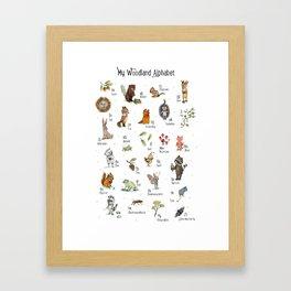 Woodland ABC- Nursery wall Art Framed Art Print
