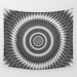 Monochrome Rings Wall Tapestry