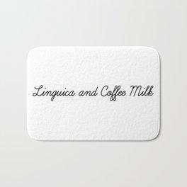 Linguica and Coffee Milk Bath Mat