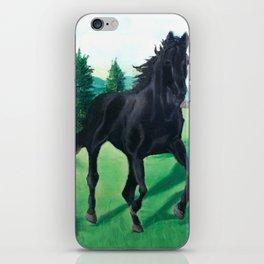 A Black Stallion iPhone Skin