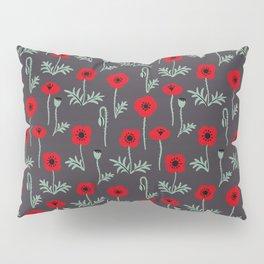 Red poppy flower pattern Pillow Sham