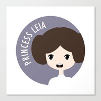 princess leia Canvas Prints featuring Princess Leia by gaps81