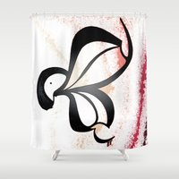 wiz khalifa Shower Curtains featuring Wiz by Je Nie Fleming