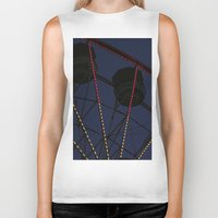 ferris wheel Biker Tanks featuring Ferris Wheel  by Yellow Tie