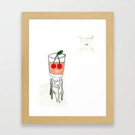 thirsty cherry juice  Framed Art Print