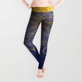 Blue velvet Leggings