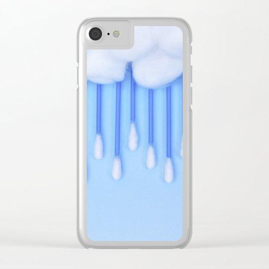 CLOUD COTTON Clear iPhone Case