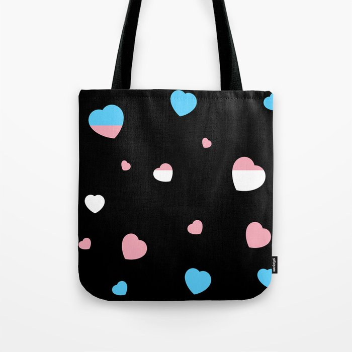 Chaotic Hearts, Pride Flag Series: Transgender Tote Bag