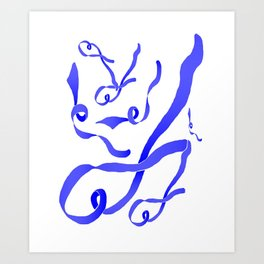 Blue Ribbon Art Print