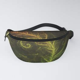 Fractal Hybrid of Guzmania Tuti Fruitti and Ferns Fanny Pack