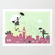 Mary Poppins-London Art Print