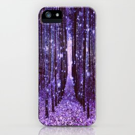 Magical Forest Purple iPhone Case