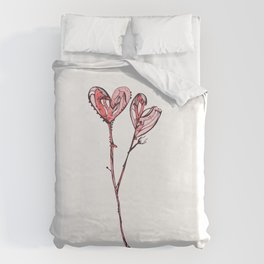 Two Hearts Duvet Cover