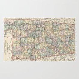 Vintage Map of Alabama (1891) Rug