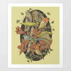 Robins and Warblers Art Print