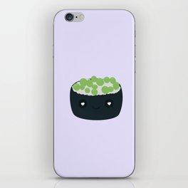 Sushi with green caviar iPhone Skin