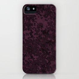 Eggplant Purple Hybrid Camo Pattern iPhone Case