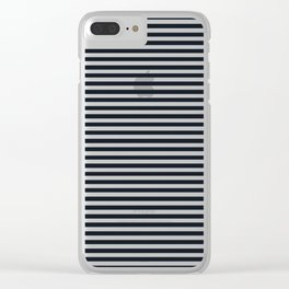 Black and White Vintage Thin Stripes Clear iPhone Case