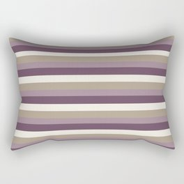 Stripes in Magenta, Lavender and Cream Rectangular Pillow