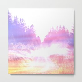 airy road ethereal aesthetic lavender landscape art altered photography Metal Print