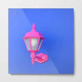 Pink Lamp Retro Metal Print