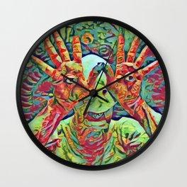 Pan's Labirinth Artistic Illustration Mixed Colors Style Wall Clock