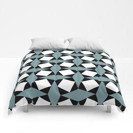 Geometric Pattern #188 (gray squares) Comforters