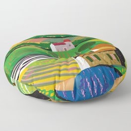Green Fields Floor Pillow