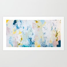 Pura White Art Print