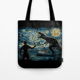 Jurassic Night Tote Bag