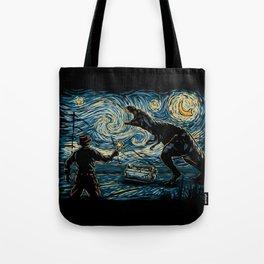 Jurassic Night Tote Bag