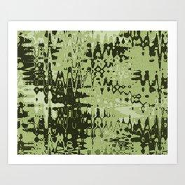 Splash Olive Art Print