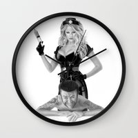 medicine Wall Clocks featuring Bad medicine by Giampaolo Casarini