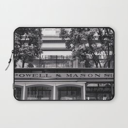 San Francisco Cable Car Black and White Laptop Sleeve
