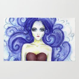 Fashion Illustration Watercolourpencil Rug
