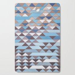 Triangle Pattern No.6 Crisp Blue Cutting Board